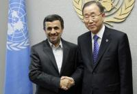 Mahmoud Ahmadinejad and Ban Ki-moon