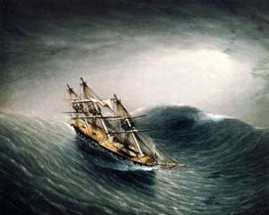 Schooner_in_a_Stormy_Sea__Date_unknown