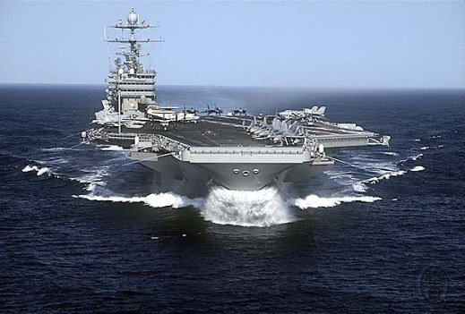 The US Navy aircraft carrier USS Harry S. Truman CVN-75, at sea, 5/2/2000.